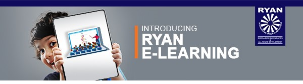 Ryan student learning online from a tablet