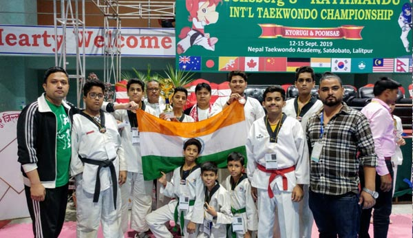 8 students won multiple medals at Taekwondo Championship in Nepal