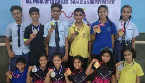 Students came first in All India Open Skating Championship