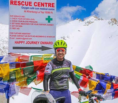 cycling from Manali to Leh.