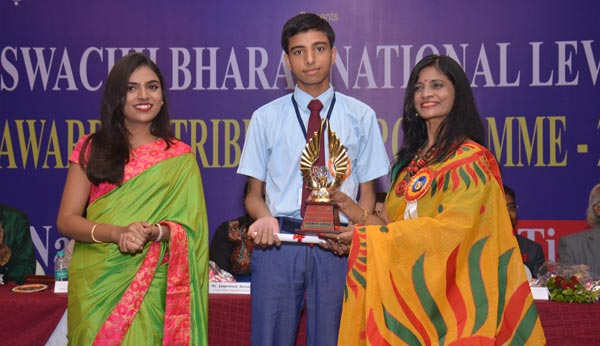 Prince Lohia won 1st Prize at Swachh Bharat Art Competition
