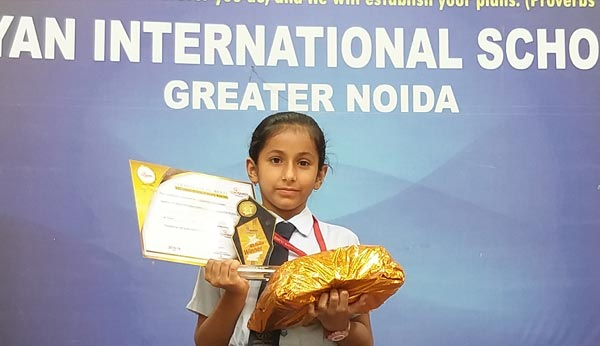 Toshani Chaudhary ranked 10th in All India IQ Contest
