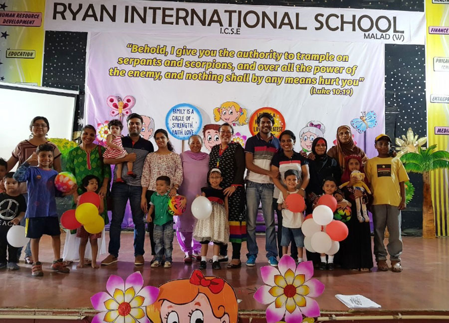 Family Spending Time together on a Saturday with games and Activities - Ryan International School Greater Noida - Ryan Group