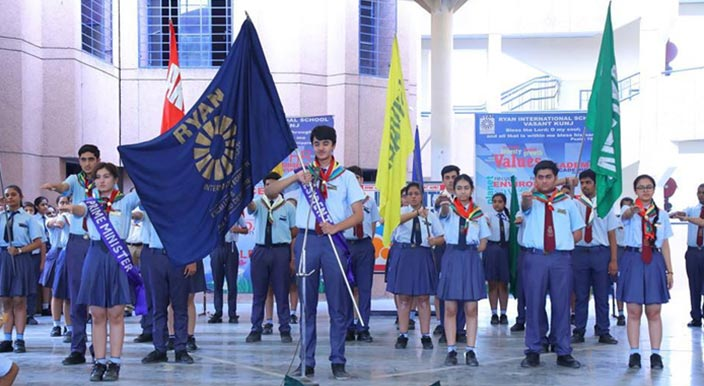 Investiture ceremony of Ryan International School, Vasant Kunj