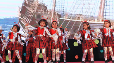 """he annual day was celebrated on 9th February 2019 with the theme """"One Nation One Heart"""""""