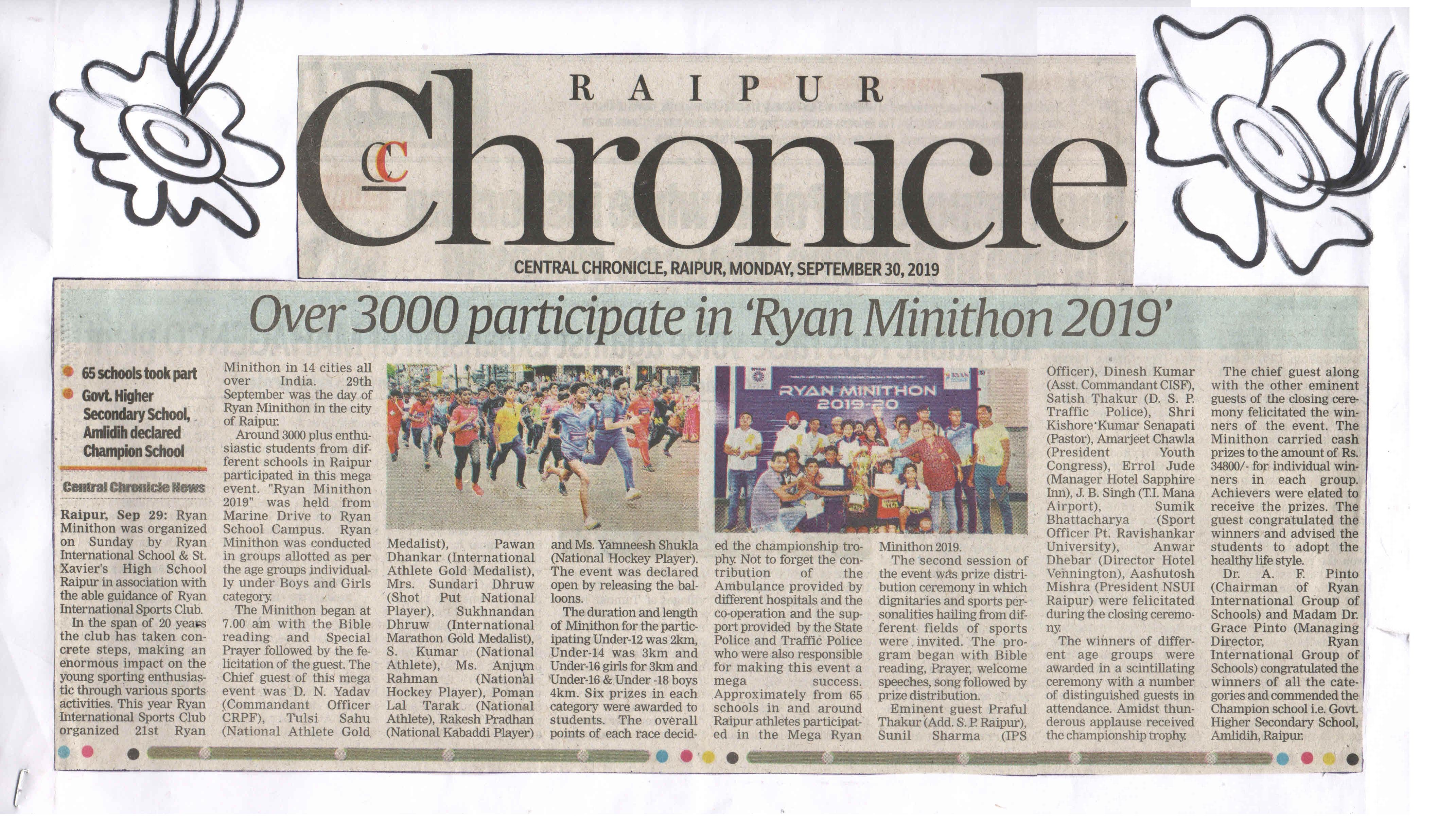 Central Chronicle - Ryan International School, Ravigram