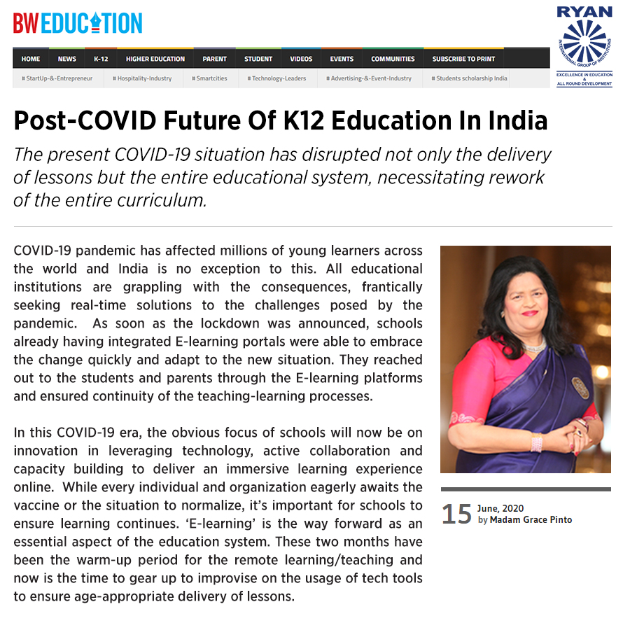 Post-COVID Future Of K12 Education In India