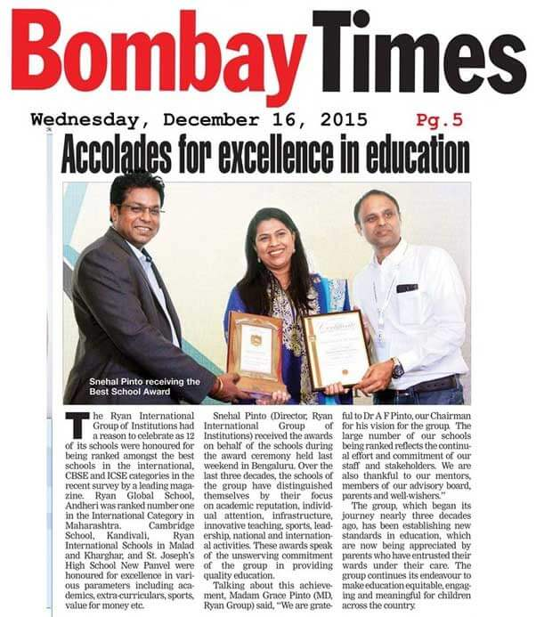 Accolades for excellence in education