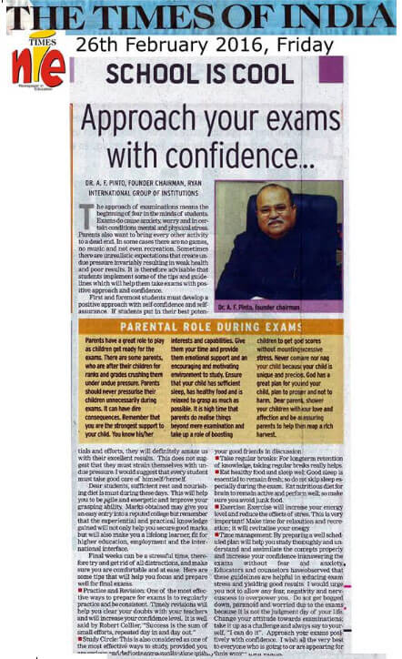 Article in TIMES OF INDIA (NIE)