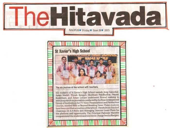 Press Clip: St. Xavier's High School, Hiwri, Nagpur