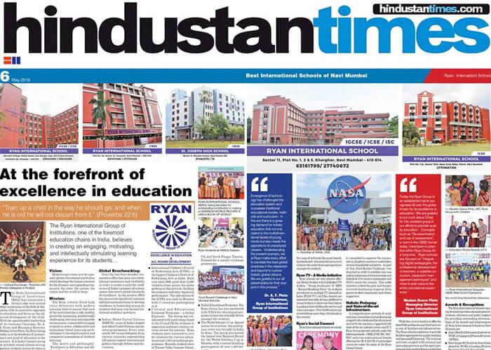 Ryan International Schools amongst the best International Schools of Navi Mumbai