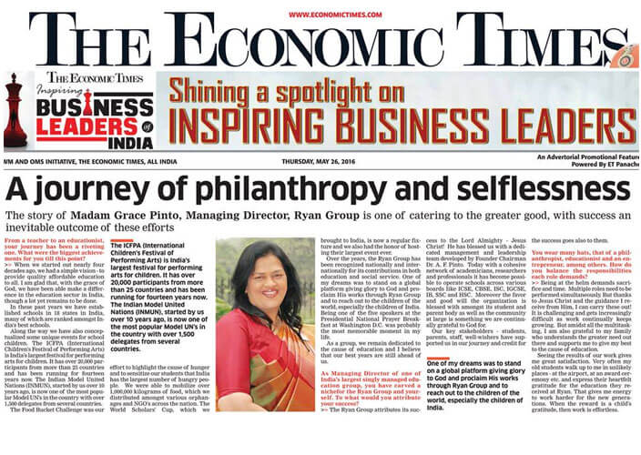 Inspiring Business Leader Award by Economic Times