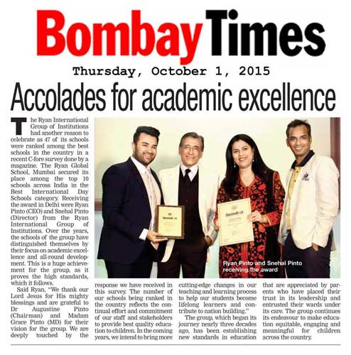 Article in Bombay Times