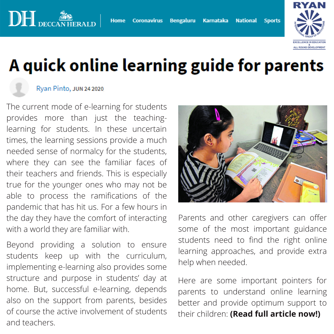 A quick online learning guide for parents